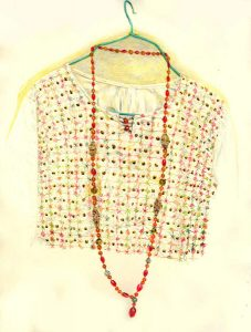 Necklace & Embroidered Smock