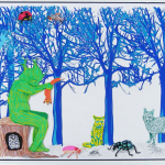 Treeman holding the Fox