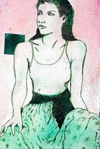 Woman in a Green Skirt