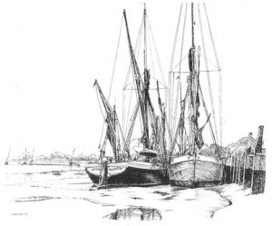 Dawn and Wivenhoe barges, Maldon