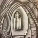 Church Window, drawing, Harriet Brigdale