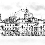 Eggleton-Margaret-Horseguards-Parade.-pen-and-ink-drawing