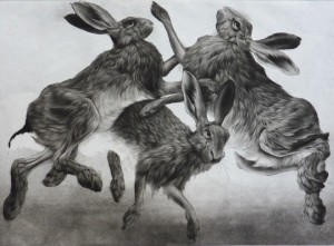 Spring by Clive Riggs SGFA Etching, aquatint and mezzotint