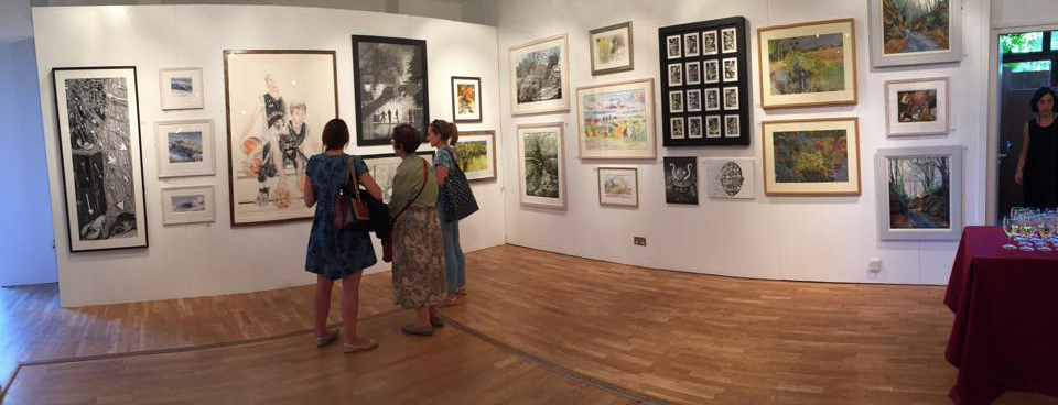 Before the private view: our Drawn Together exhibition  at Bankside Gallery 30 June 2015