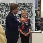 John Huddy of Illustrationcupboard Gallery with Jackie Devereux PSGFA