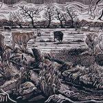Myrtle Pizzey - Cattle on Hay Moor