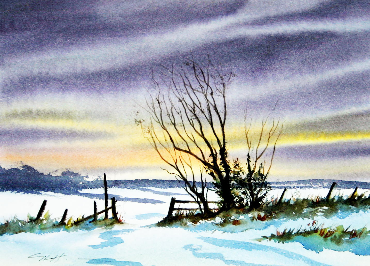 Image of the Month: Winter in the Chilterns by Graham Lewis Heron ASGFA