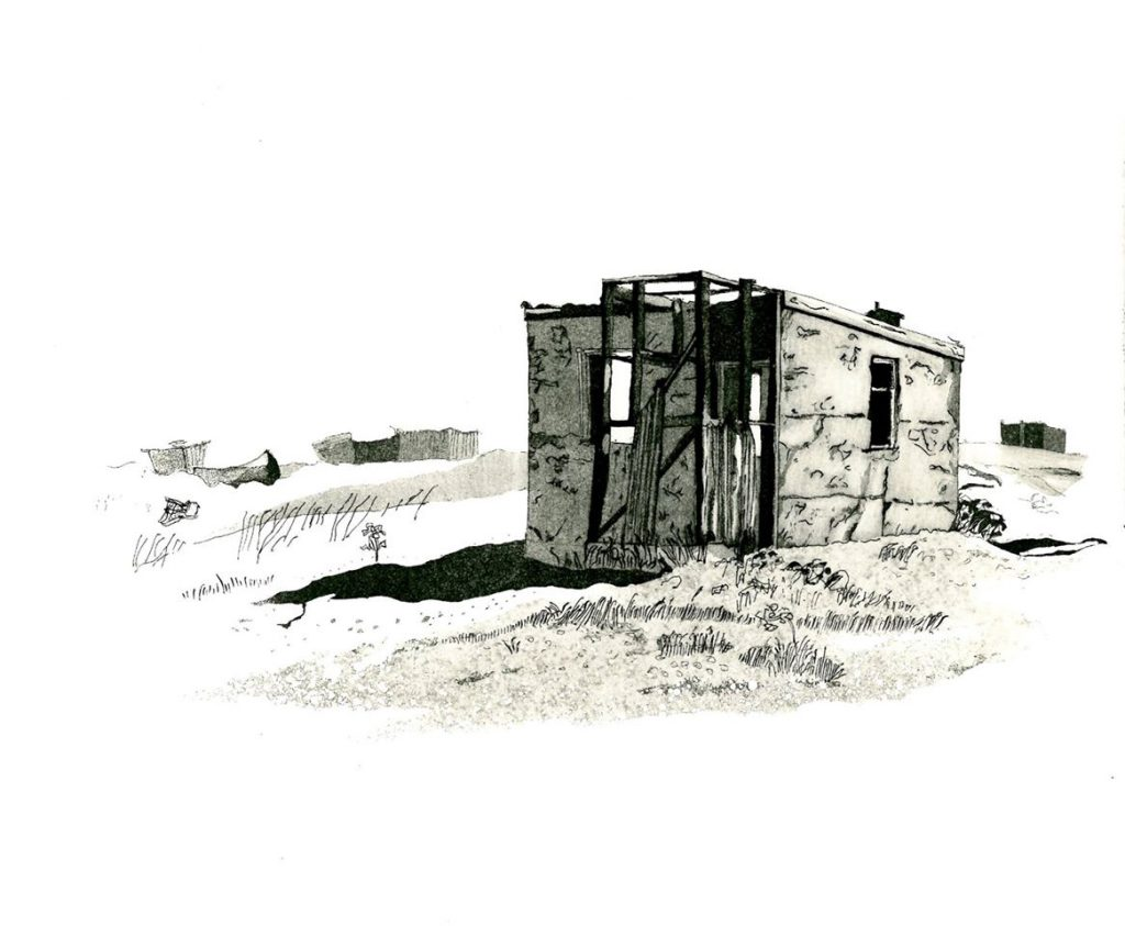 'Dungeness Shack' by Vincent Matthews SGFA