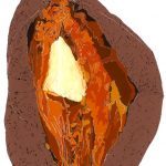 Sweet Potato, print, Lucy Clayton