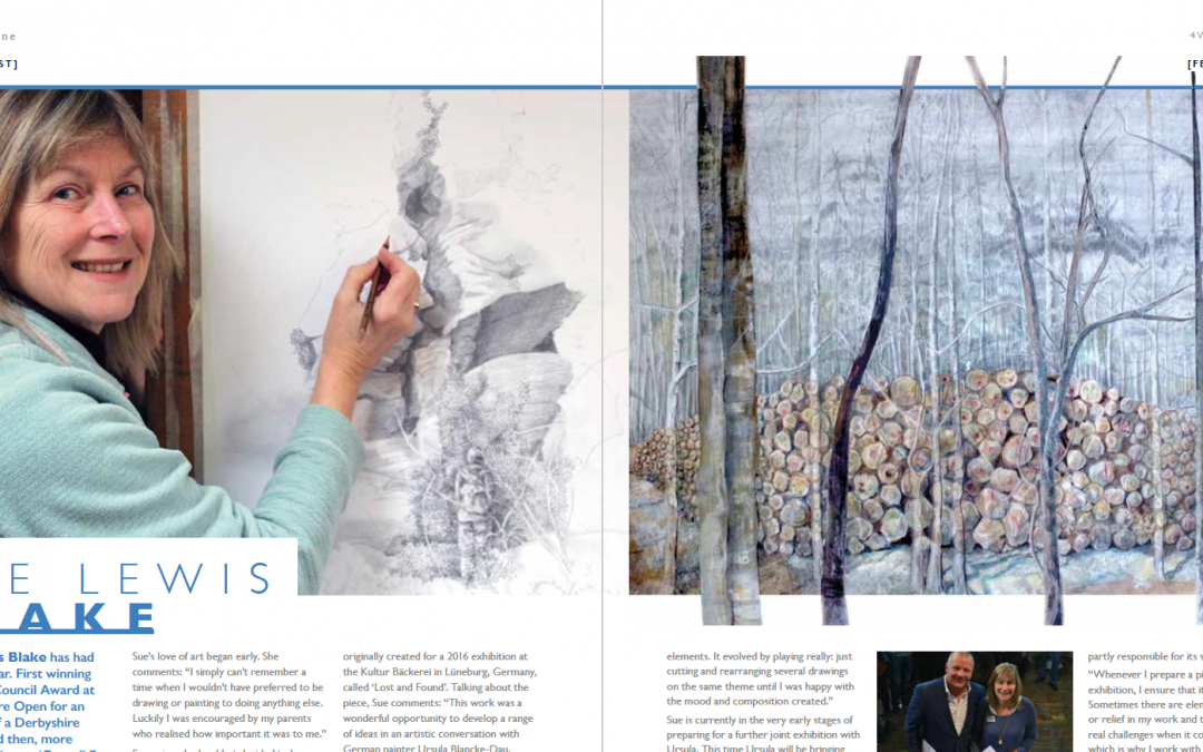 Sue Lewis-Blake article in Arqadia magazine