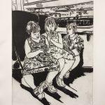 Three Girls On a Train Sally Loughridge