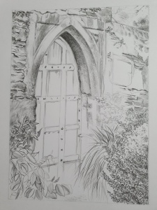Ruth Baron Ezra, 'Secret Garden' in progress drawing.