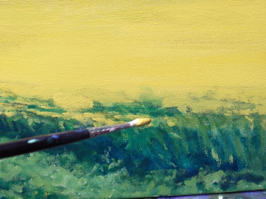 Paul Cousins 'The Yellow Field' progress image