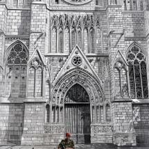 Ashkowski_Shelley_Bordeaux Cathedral_Pencil&AcryliconPaper_Unframed