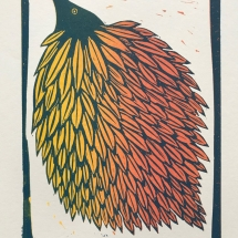 Brigdale-Harriet-Leaf-Bird-Lino-print