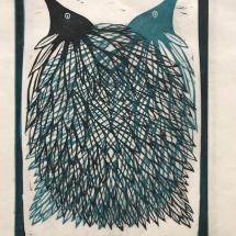 Brigdale-Harriet-Leaf-Bird-two-Lino-Print