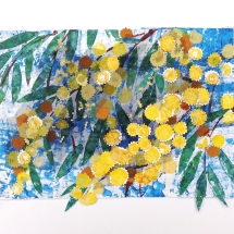 Carpenter Anne STRAP LEAF ACACIA Collage and Print