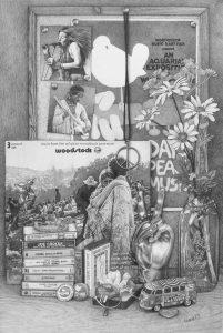 "Dawn Chandler, ""Woodstock"", pencil on paper, 60x40cm, £650."