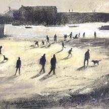 Hardy_Sue_Winter on the Beach, Lyme Regis_Pastel