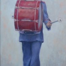 Hicks, Elizabeth, Band boy with red drum, Oils