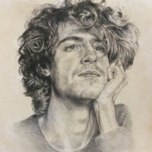 Hodges Kaye-Looking Forward to the Future-Charcoal and Pencil