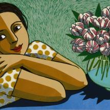Klein Anita The Thank-you Flowers, linocut