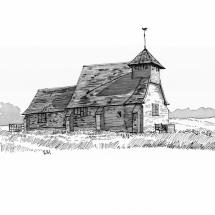Matthews Vincent Fairfield Church Indian Ink