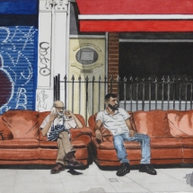 Nast-Elizabeth-Father and Son Business-Watercolour