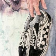 Sparkes-Claire-Old Skool Mix Checkerboard-Watercolour
