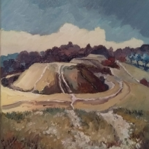 Stanley Stuart Bow Hill oil on canvas 40x 30