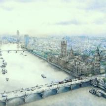 Eggleton Margaret SWA SGFA Westminster from the London Eye