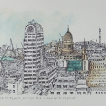 Neale Karen SGFA From 120 Fenchurch Street in the City, via St Paul's, across the River and Beyond