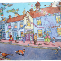 Smith Lyndsey SGFA Tales from Great Missenden (A tea towel for Roald Dahl museum)