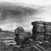 Wright Kevin ASGFA Dartmoor, Middle Staple Tor under rainclouds
