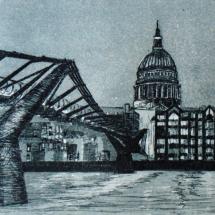 Wright Kevin ASGFA St Paul's and the Millennium Bridge at twilight